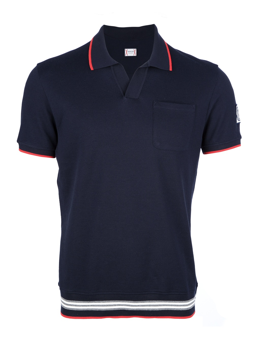Moncler Gamme Bleu Polo Shirt In Blue For Men Lyst