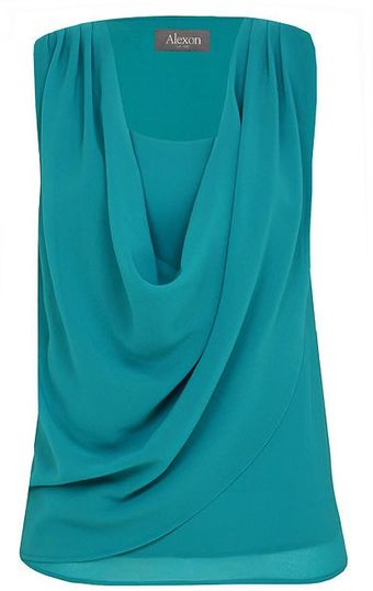 Alexon Ocean Blue Cowl Neck Top - Lyst