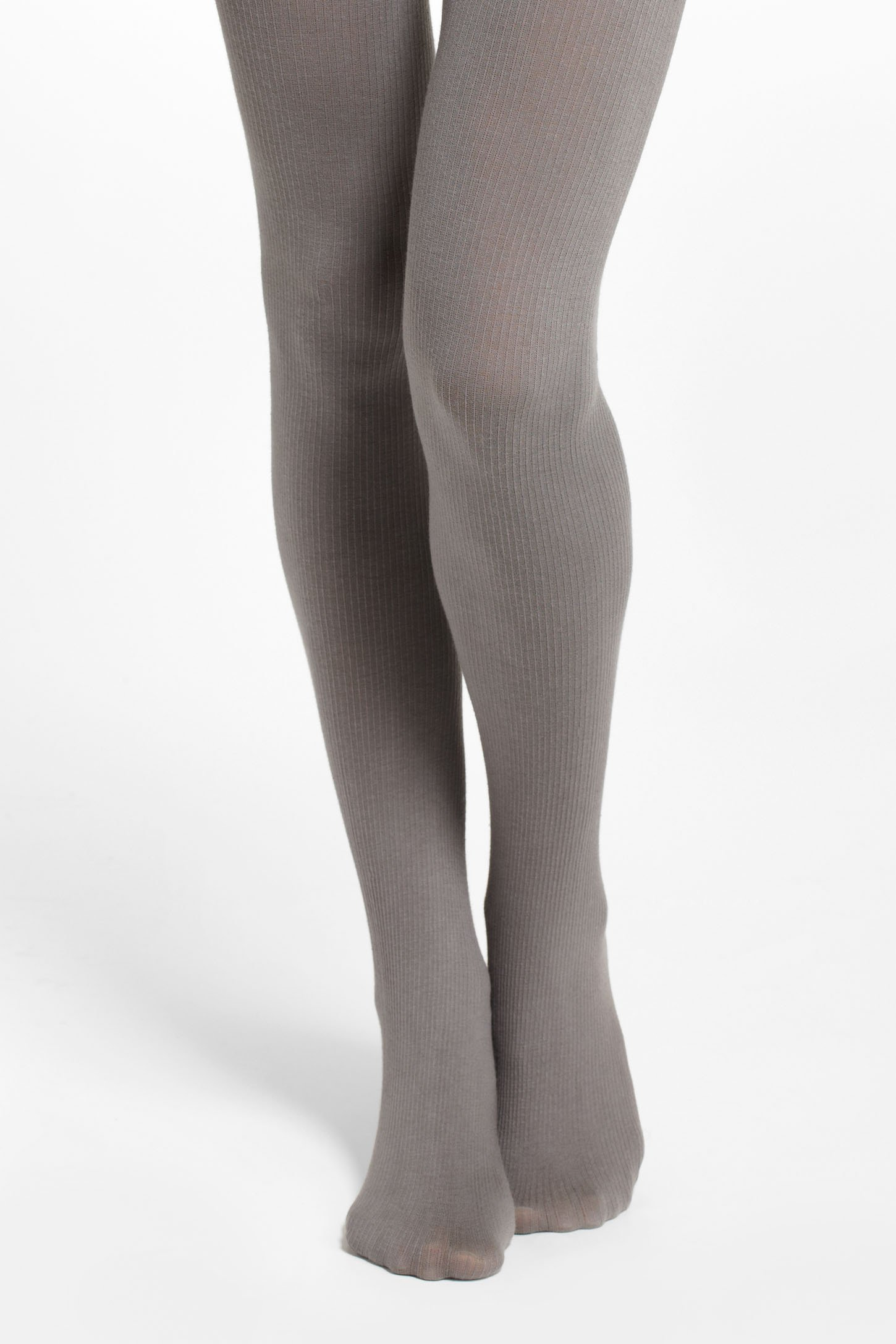 anthropologie chromatic ribbed tights in gray