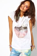 ASOS Collection T-Shirt with Heads in The Clouds Print - Lyst