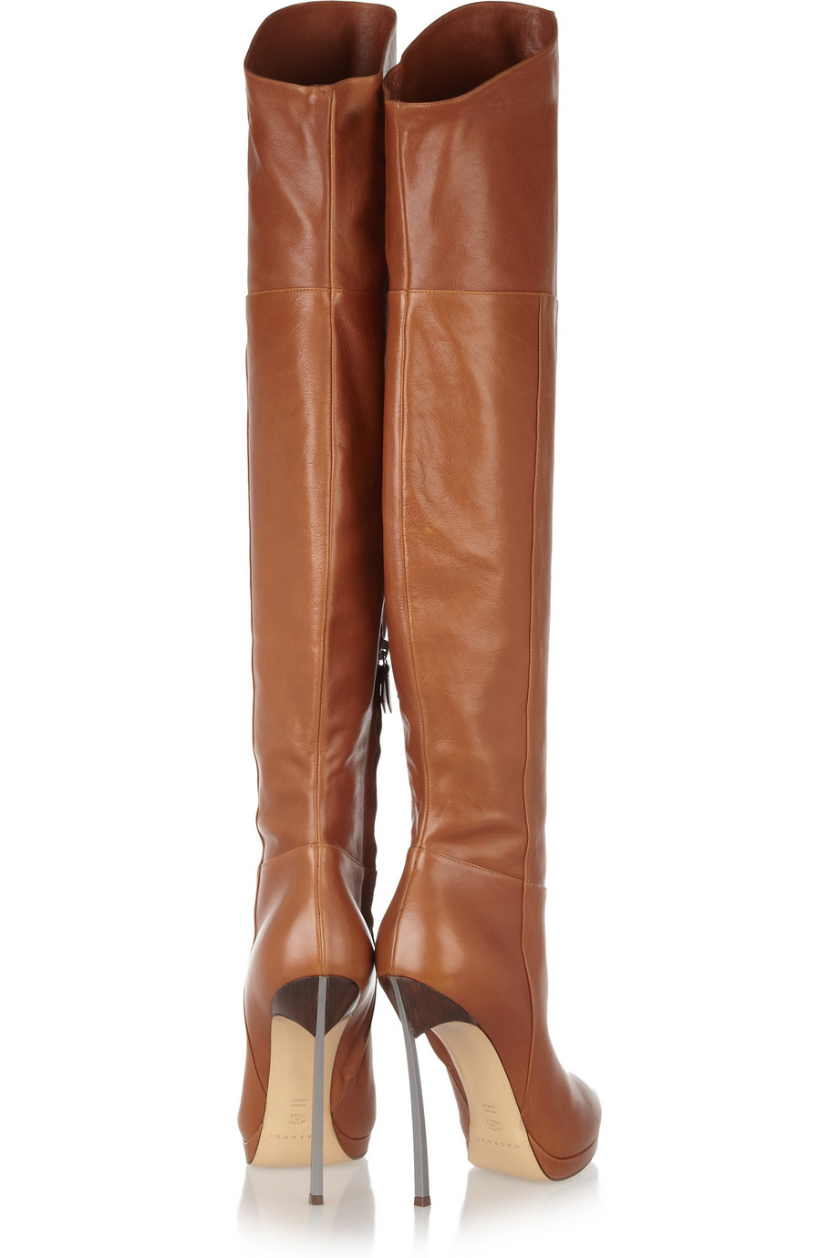 b7a3d28ee78 Lyst - Casadei Leather Thigh Boots in Brown