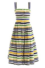 Dolce & Gabbana Multicolour Stripe Print Dress - Lyst