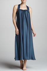 Donna Karan New York Georgette Sleepwear Gown - Lyst