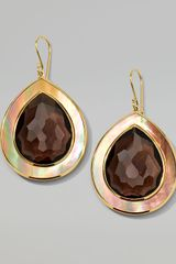 Ippolita Ondine Smoky Quartz Shell Teardrop Earrings - Lyst
