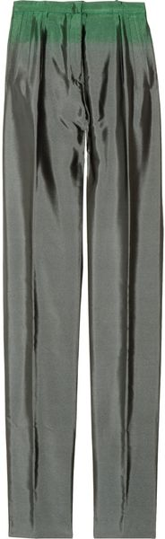 Jil Sander Dipdye Pleated Silk Pants - Lyst