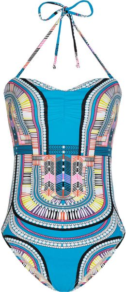 Mara Hoffman Electric Casino Printed Swimsuit - Lyst
