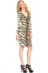 Michael Kors Long-sleeve Animal Print Wrap - Lyst