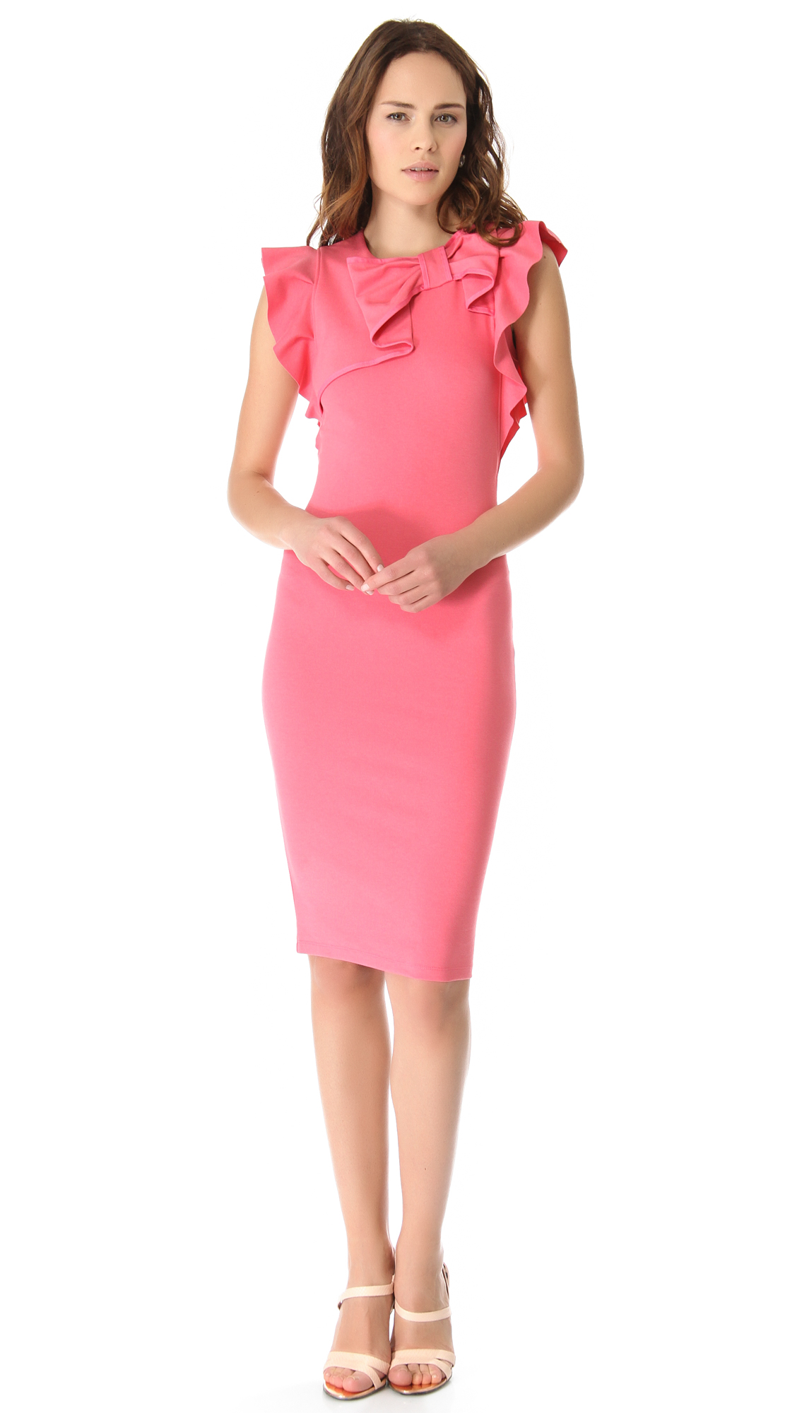 Red Valentino Ribbon Sheath Dress In Pink Lyst