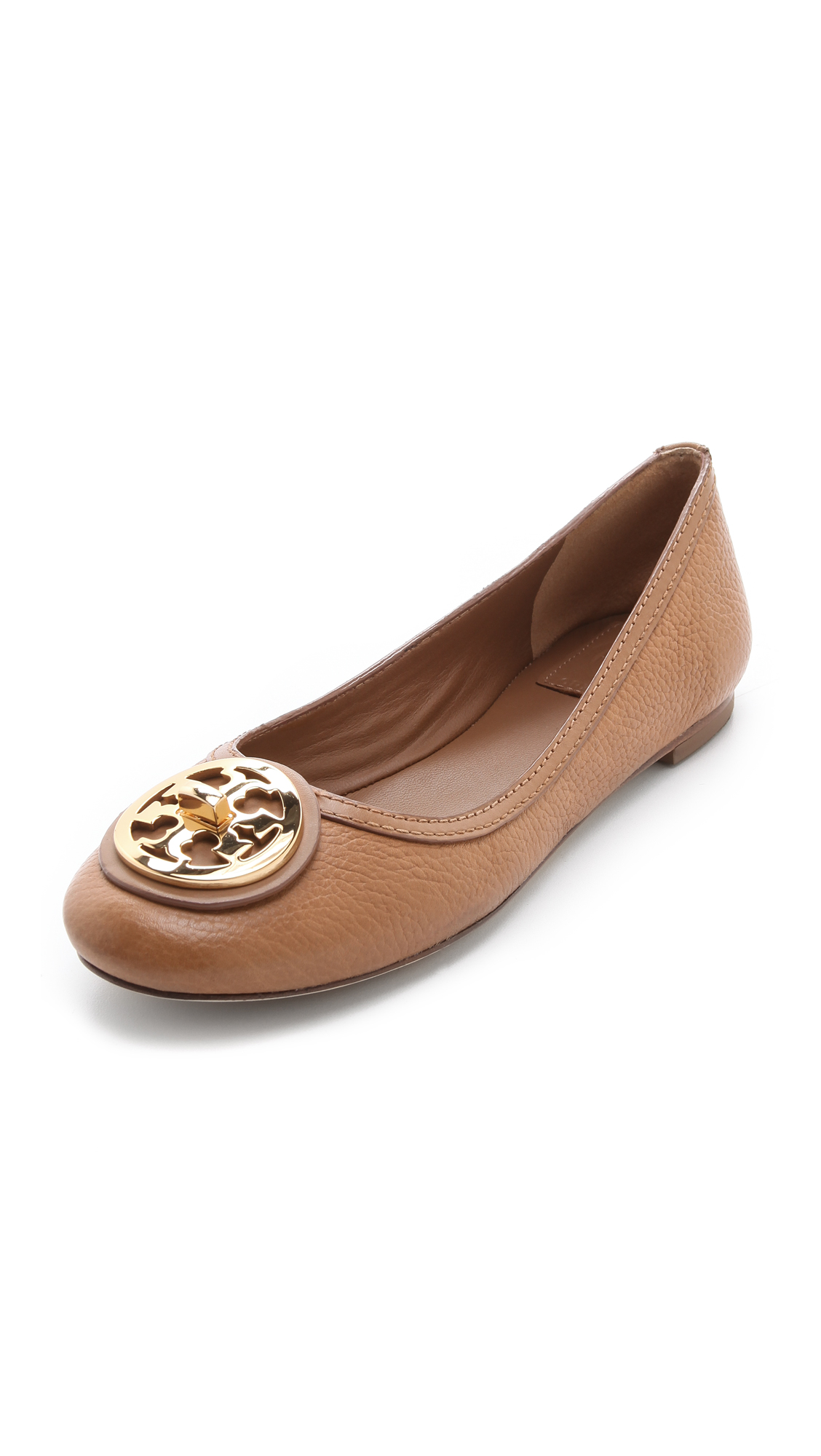 c5188900d53 Lyst - Tory Burch Selma Ballet Flats in Brown