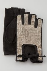 Valentino Rockstud Fingerless Gloves - Lyst