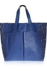 Anya Hindmarch Raw Nevis Eyeletdetailed Leather Tote - Lyst