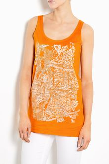 Carven Paris Map Print Tank - Lyst