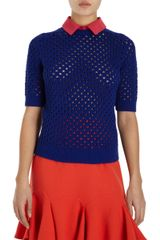 Carven Fish Knit Sweater - Lyst