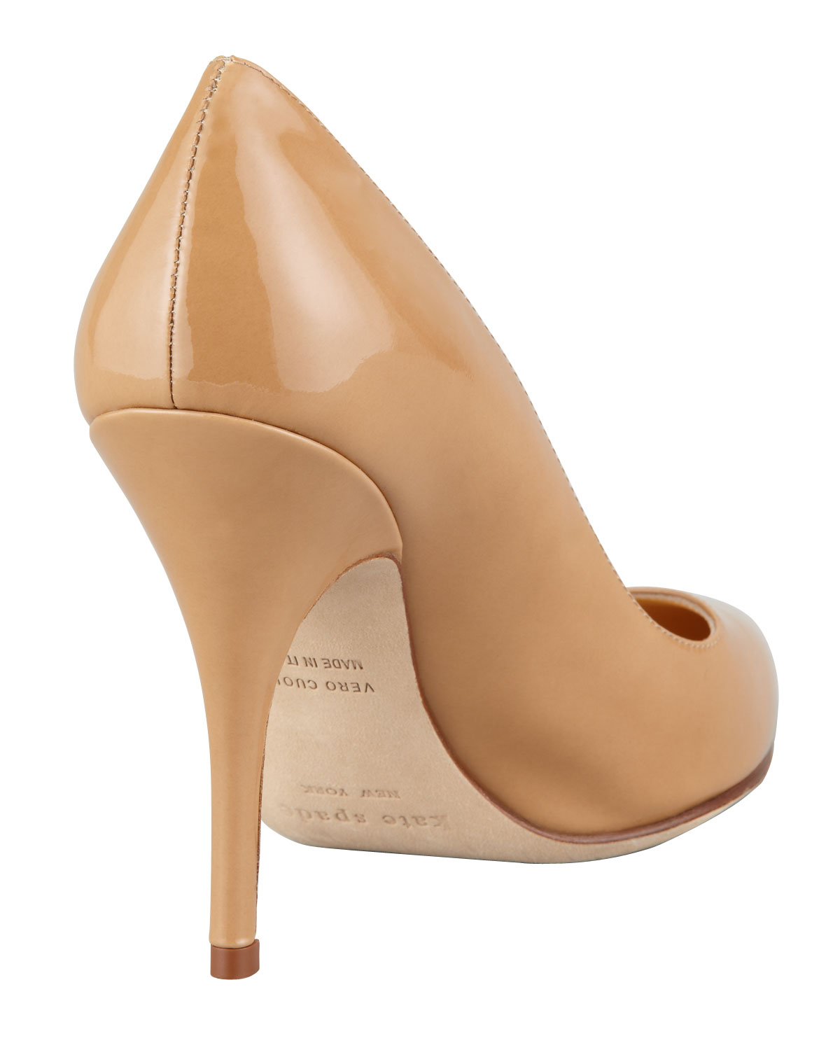 Kate spade new york Licorice Patent Pointedtoe Pump Camel in ...