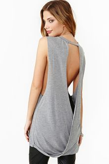 Nasty Gal Hang Loose Muscle Tee Gray - Lyst