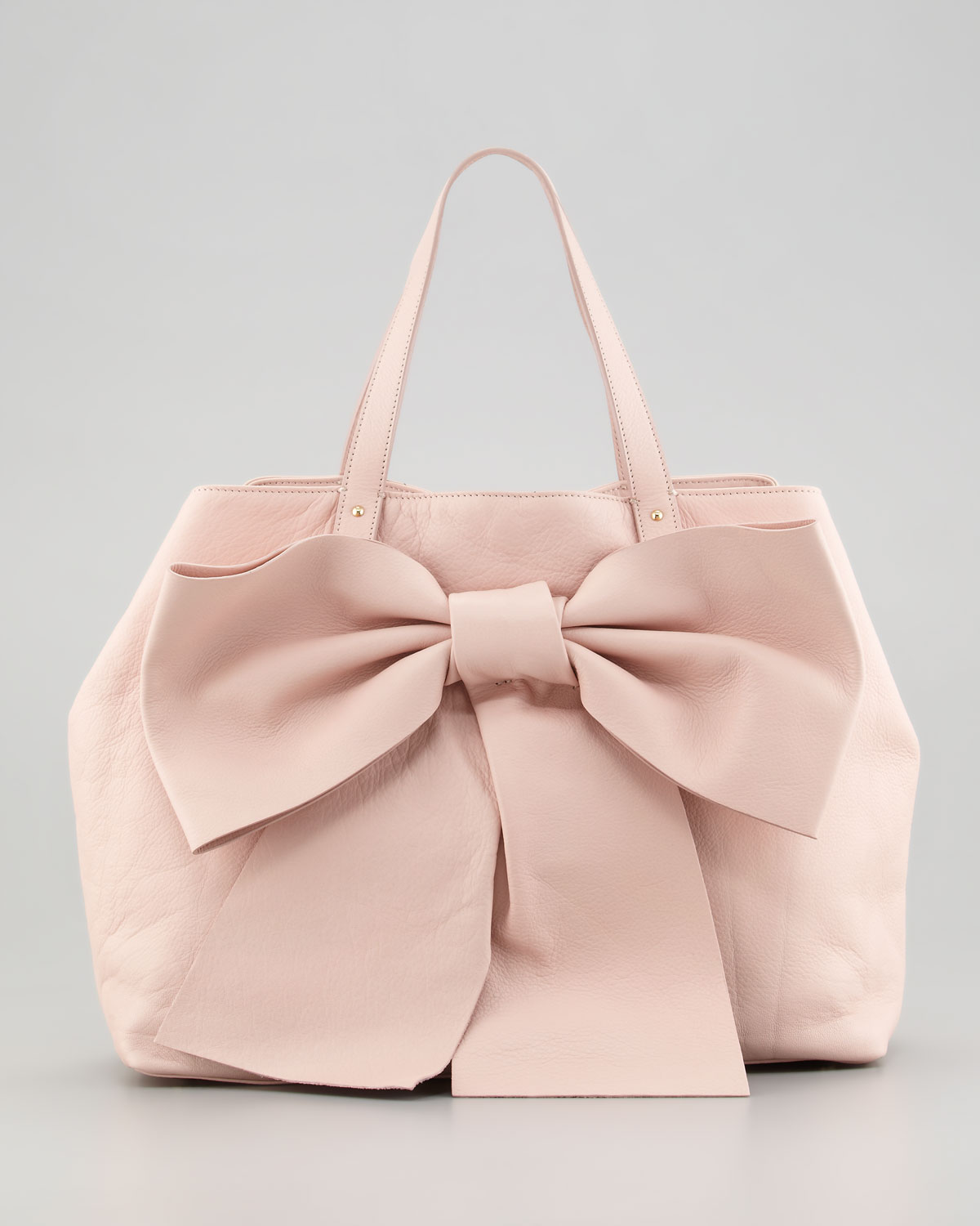 Red valentino Calfskin Bow Tote in Pink | Lyst