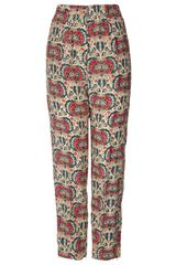 Topshop Floral Print Silk Joggers By Boutique