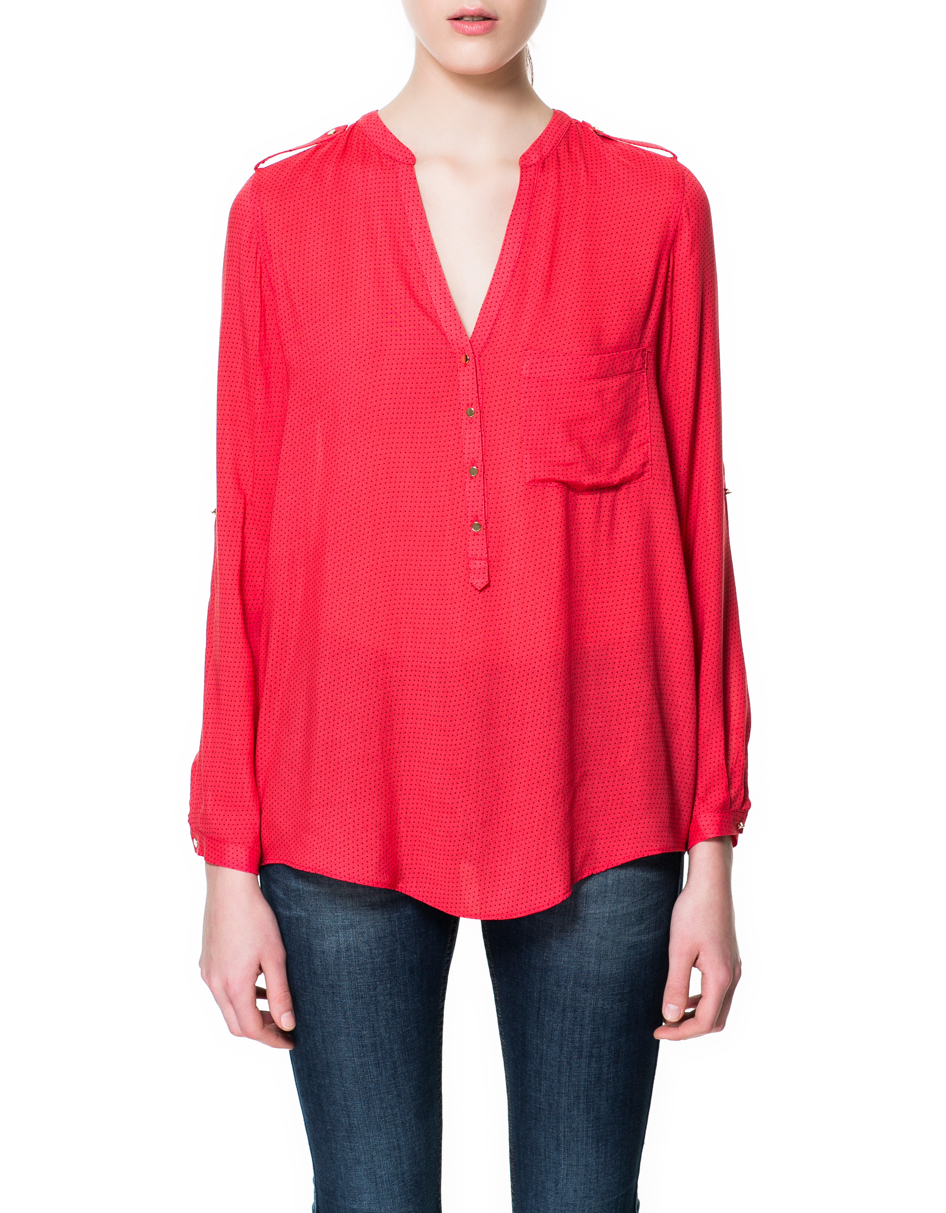Zara Red Blouse 79