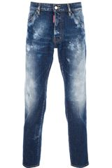 DSquared2 Distressed Slim Fit Jeans - Lyst