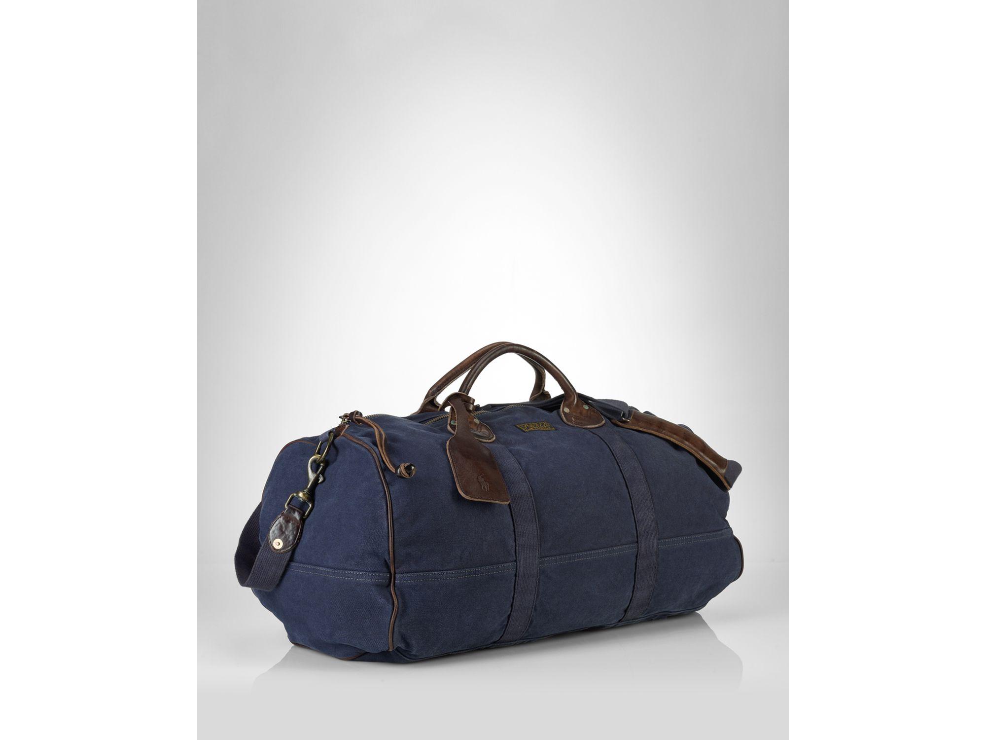 535032512919 Lyst - Ralph Lauren Collection Accessories Canvas Bedford Duffle Bag ...