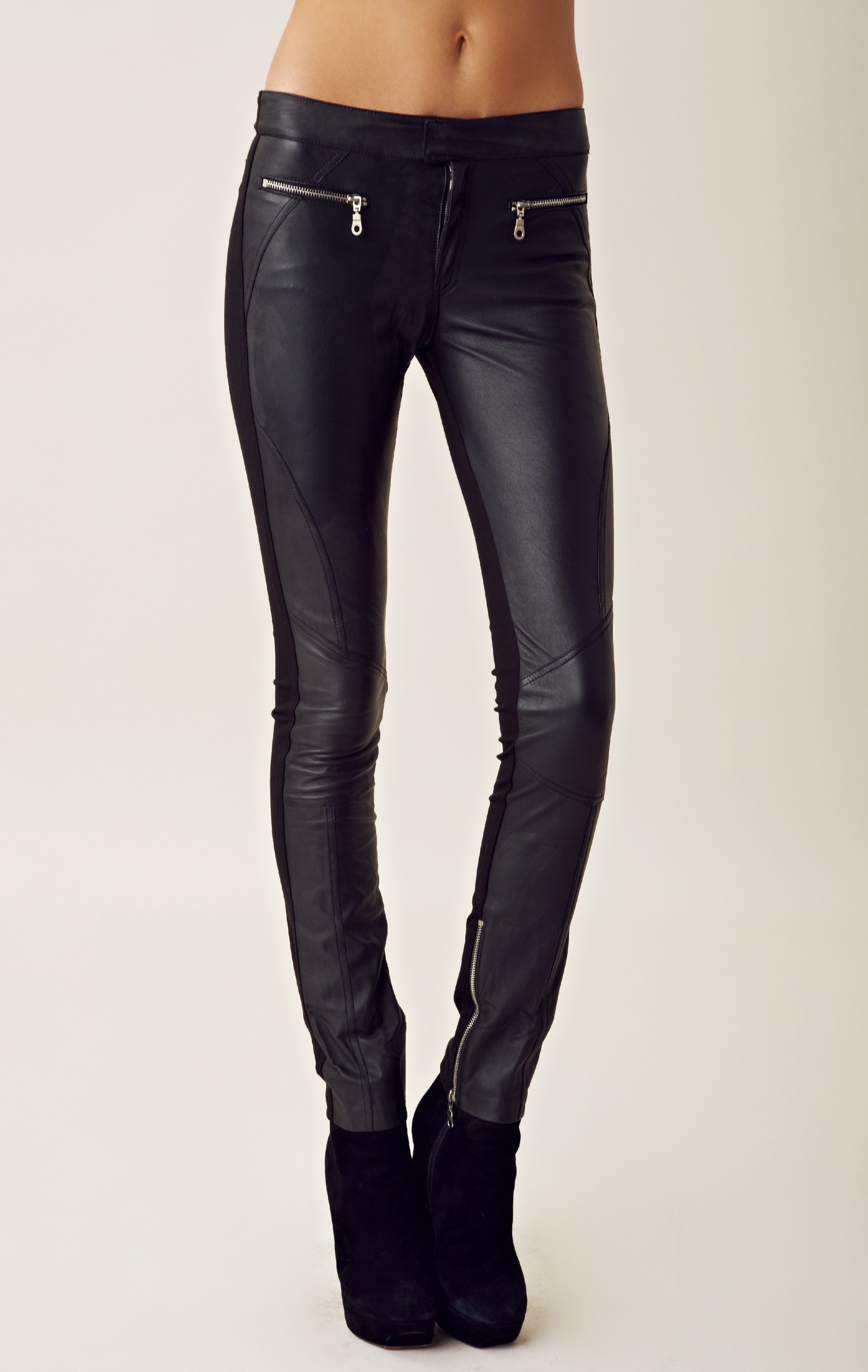 shakuhachi leather pants in black lyst With letter pants