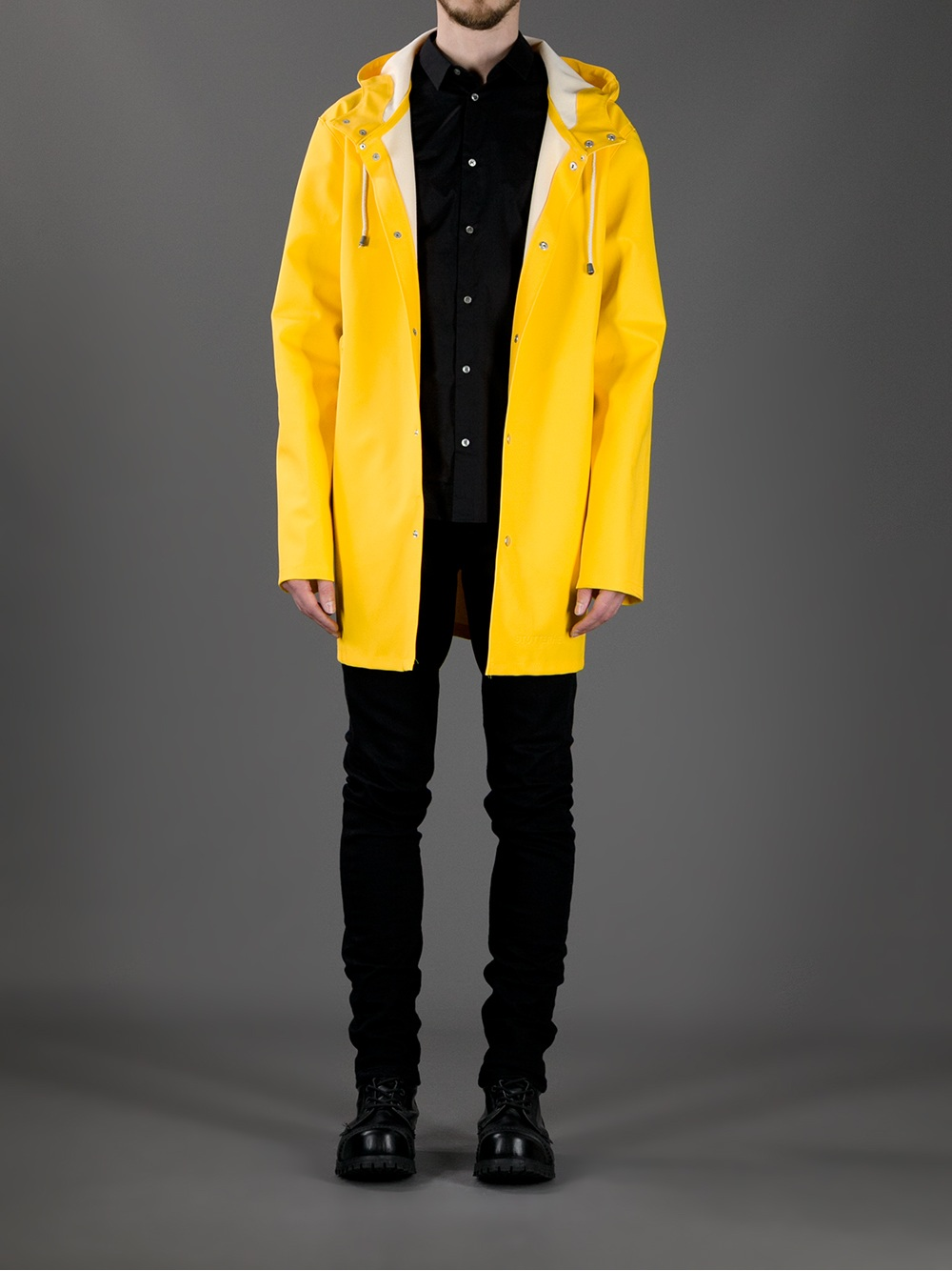 Stutterheim Stockholm Raincoat in Yellow for Men | Lyst