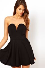 Tfnc Fit and Flare Dress with Plunge V Neck - Lyst