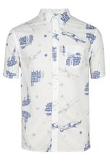 AllSaints Comic Short Sleeved Shirt - Lyst