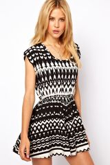 ASOS Collection  Playsuit in Monochrome Print