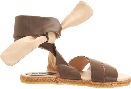 Chlo 233 Espadrille Ankle Wrap Sandal In Brown Lyst