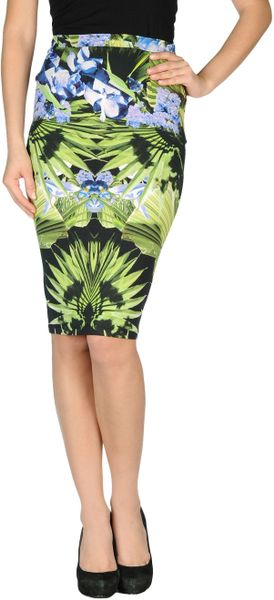 Givenchy Knee Length Skirt in Multicolor (vert) - Lyst