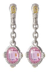 Judith Ripka Pink Arielle Earrings - Lyst
