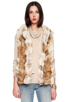 Michael Kors Hooded Patchwork Fox Vest - Lyst