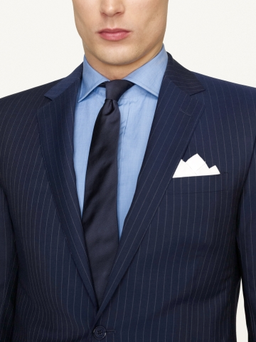Ralph lauren black label Anthony Dotted Pinstripe Suit in Blue for ...