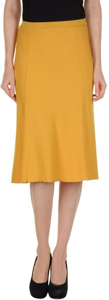 Stephan Janson Mid- Length Skirt in Orange
