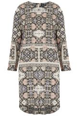Topshop Tile Print Tunic Dress - Lyst