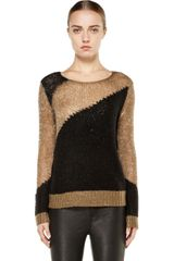 Alice + Olivia Opal Novelty Stitch Crewneck Sweater - Lyst