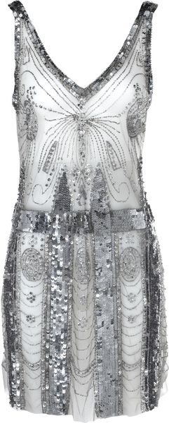 Balmain Metallic Dress - Lyst