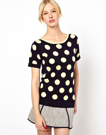 Boutique By Jaeger Polka Dot Knit - Lyst