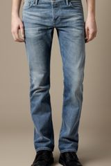 Burberry Steadman Vintage Stonewash Slim Fit Jeans in Blue for Men (knebworth vintage) - Lyst