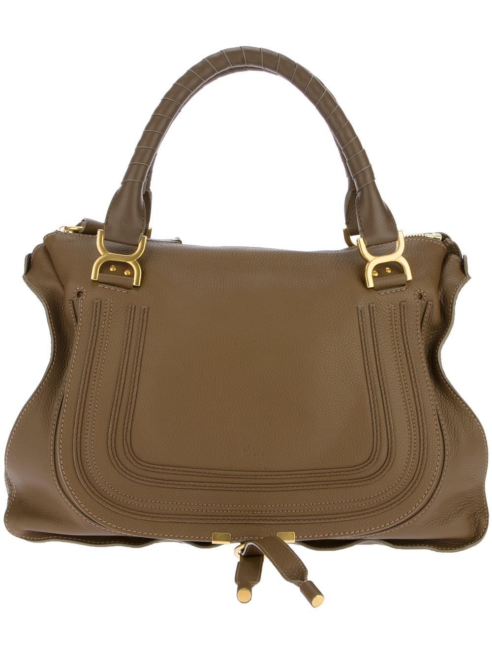 chlo marcie large shoulder bag in brown lyst. Black Bedroom Furniture Sets. Home Design Ideas
