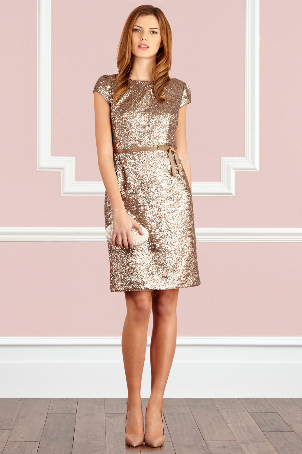 Coast Rosamind Dress In Gold Oranges Lyst