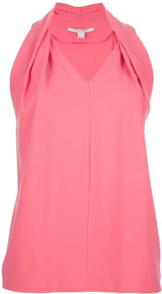 Diane Von Furstenberg Draped Panel Top - Lyst