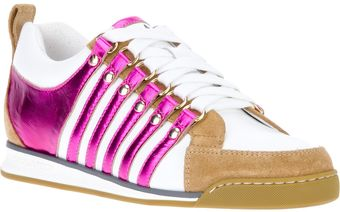 DSquared2 Striped Laceup Sneaker - Lyst