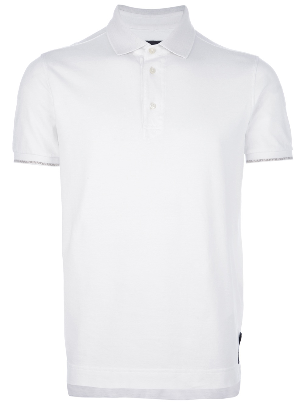Fendi slim fit polo shirt in white for men lyst for White fitted polo shirts
