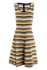 Fendi Stripe Cotton Knit Dress - Lyst