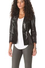 Helmut Lang Razor Leather Fitted Jacket - Lyst