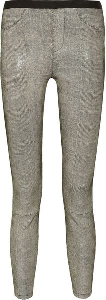 Helmut Lang Snake Print Leather Leggings Style Pants - Lyst