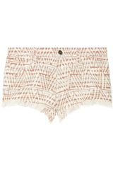 Iro Zack Metallic Cotton-blend Tweed Shorts - Lyst