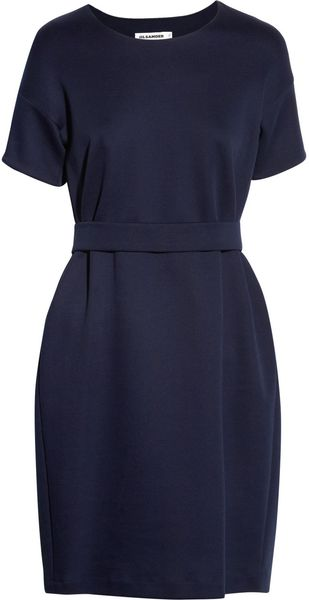 Jil Sander Stretch jersey Dress - Lyst